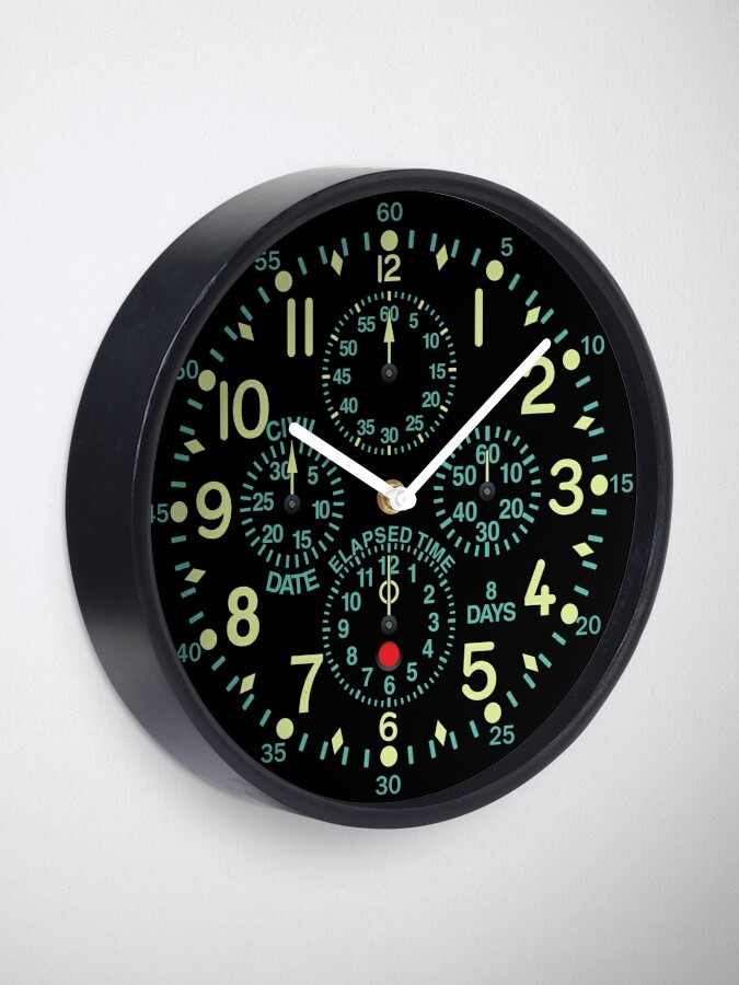 "Alternate view of ""Flying Fortress"" Aircraft Clock Clock"