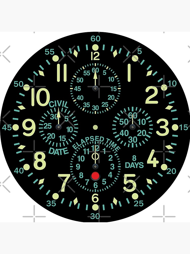"""Flying Fortress"" Aircraft Clock by Mechanick"