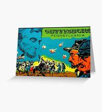 Gettysburg Pennsylvania Vintage Travel Decal Greeting Card