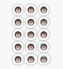 Emotional Hedgehogs Sticker