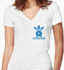 ODDIDAS Women's Fitted V-Neck T-Shirt