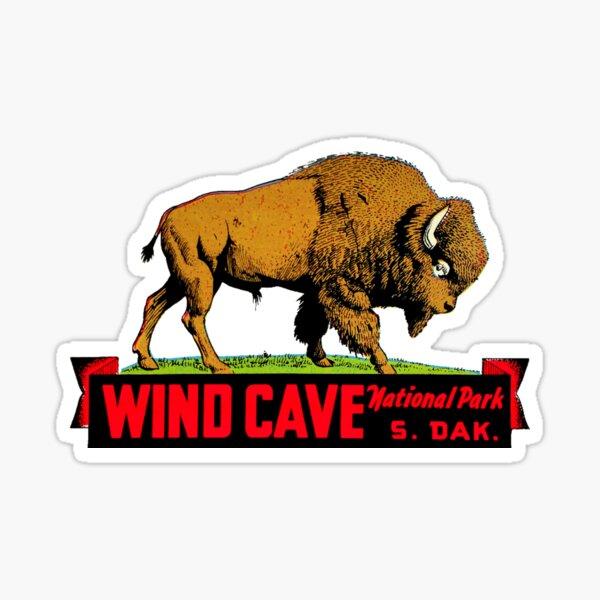 Wind Cave National Park South Dakota Vintage Travel Decal Sticker