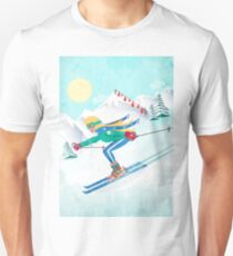 Skiing Girl Unisex T-Shirt