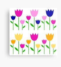 Designers tulips original Folk Art Metal Print