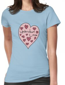 Love pattern. Valentine's Day. Unbroken love Womens Fitted T-Shirt