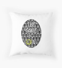 The Game Is On Sherlock Throw Pillow