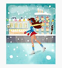 Ice Skating Girl Photographic Print