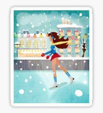 Ice Skating Girl Sticker
