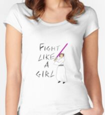FIGHT LIKE A GIRL - LEIA ORGANA Women's Fitted Scoop T-Shirt