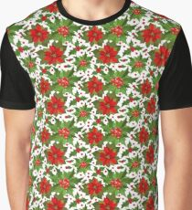 Poinsettia Pattern Graphic T-Shirt