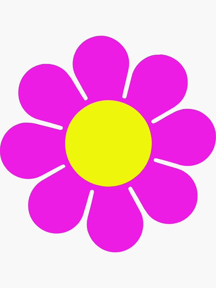 Pink Yellow Hippy Flower Daisy by hilda74