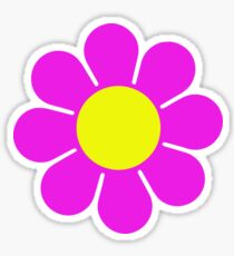 Pink Yellow Hippy Flower Daisy Sticker