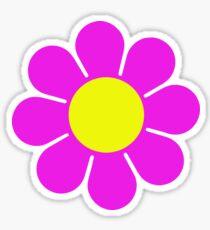 Rosa gelbes Hippy Blumen-Gänseblümchen Sticker