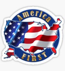 America First President Donald Trump Shirts Sticker