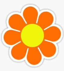 Orange Yellow Hippy Flower Daisy Sticker