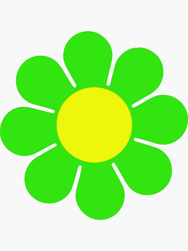 Green Yellow Hippy Flower Daisy by hilda74