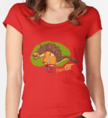Paleo Kids-Ankylosaur Paleo Flyer with Lenny Women's Fitted Scoop T-Shirt
