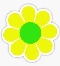Yellow Green Hippy Flower Daisy Sticker