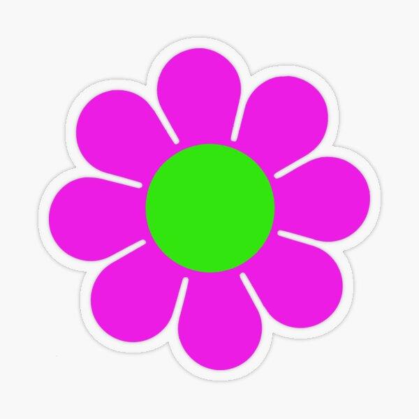 Pink Green Hippy Flower Daisy Transparent Sticker