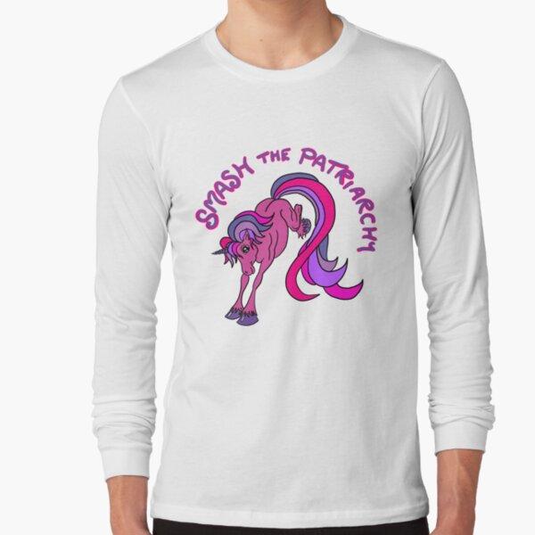 Smash the Patriarchy Feminist Unicorn Long Sleeve T-Shirt