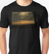 View Past the Tree at a Partial Eclipse Unisex T-Shirt