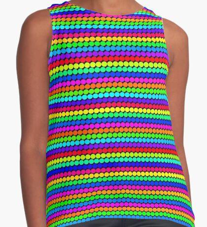 Rainbow Polka dots 004 Sleeveless Top