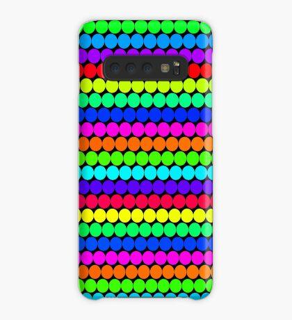 Rainbow Polka dots 004 Case/Skin for Samsung Galaxy