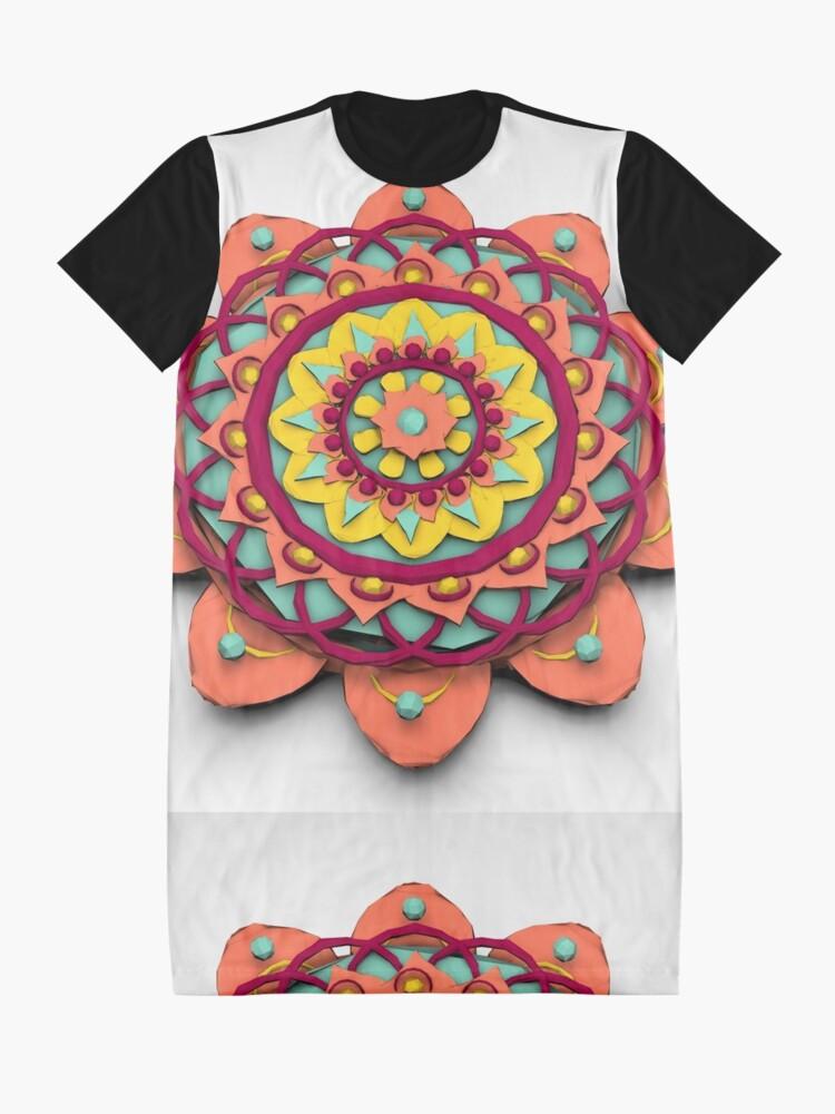 Vista alternativa de Vestido camiseta Mandala 3D Lowpoly