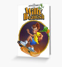 Adventures of Willy Beamish - SEGA CD Box Art Greeting Card