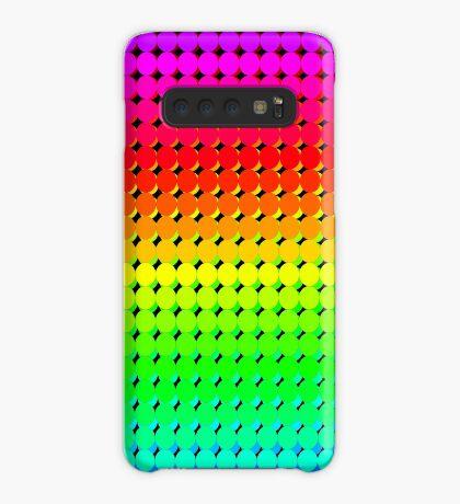 Rainbow Polka dots 006 Case/Skin for Samsung Galaxy