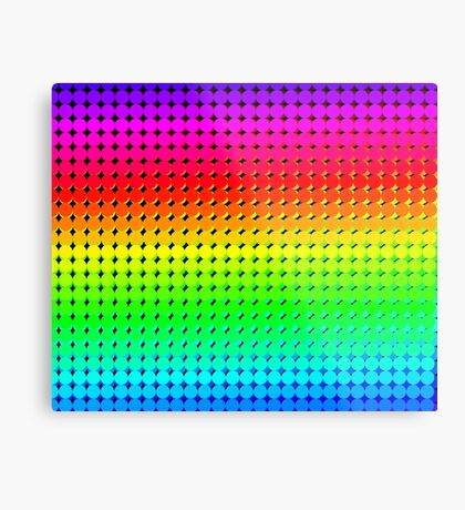 Rainbow Polka dots 006 Metal Print