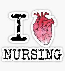 I Heart (Love) Nursing - RN - Nurse Sticker