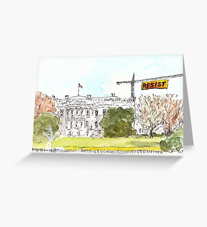 Resist the Trump White House Greeting Card
