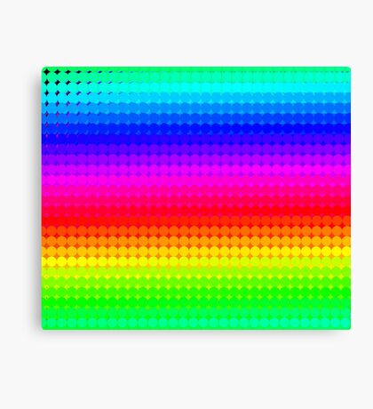 Rainbow Polka dots 007 Canvas Print