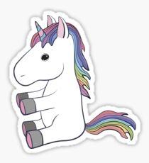 Pretty cute unicorn  baby animal Sticker