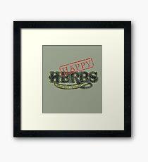 Happy HERBS (Cheech & Chong) Framed Print
