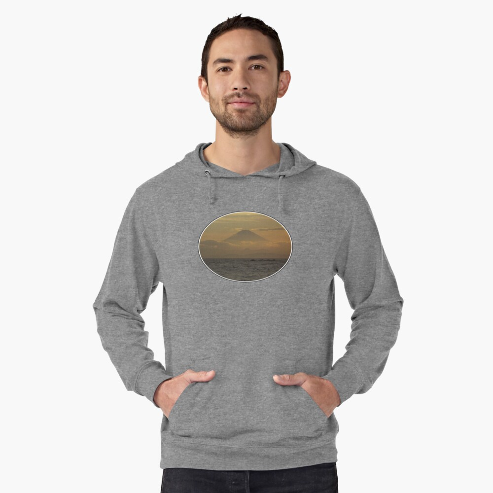 Mt. Fuji Sunset I Lightweight Hoodie Front