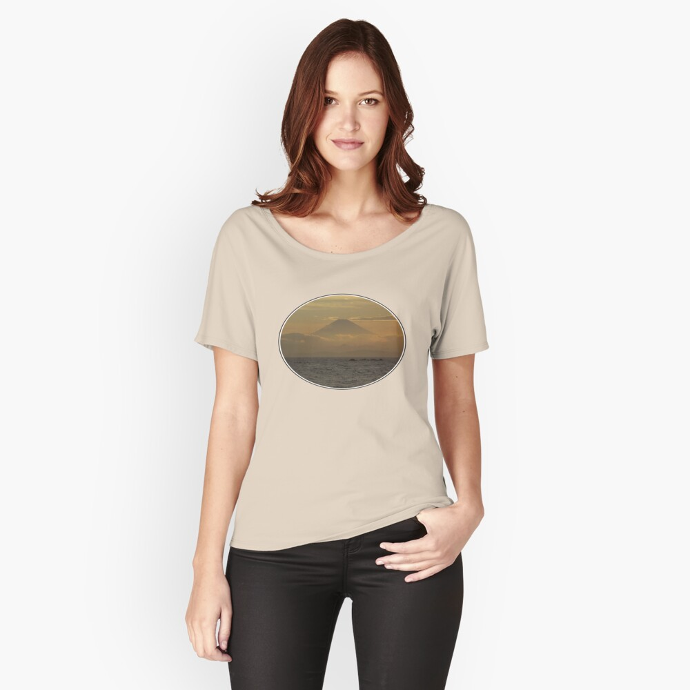 Mt. Fuji Sunset I Women's Relaxed Fit T-Shirt Front