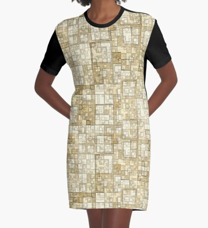Squares of Taupe by Julie Everhart Graphic T-Shirt Dress