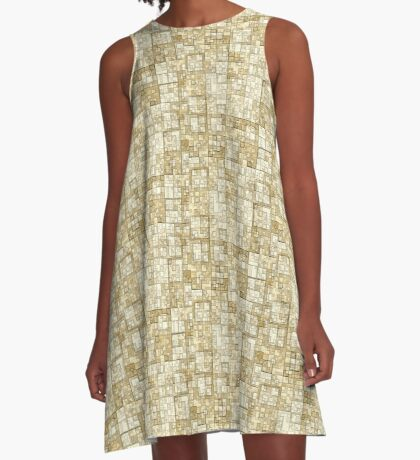 Squares of Taupe by Julie Everhart A-Line Dress