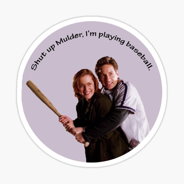 Scully & Mulder Baseball Pegatina