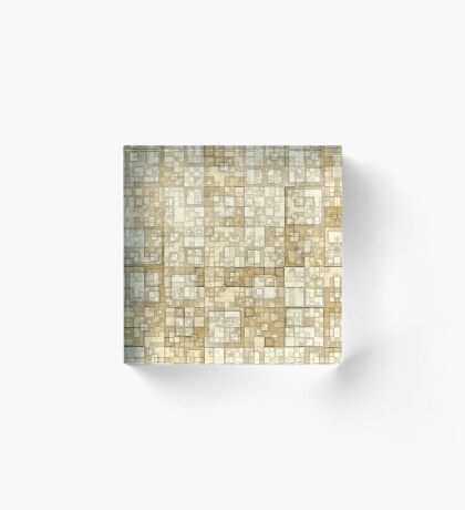 Squares of Taupe by Julie Everhart Acrylic Block