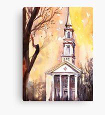 Church watercolor painting Canvas Print