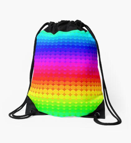 Rainbow Polka dots 007 Drawstring Bag