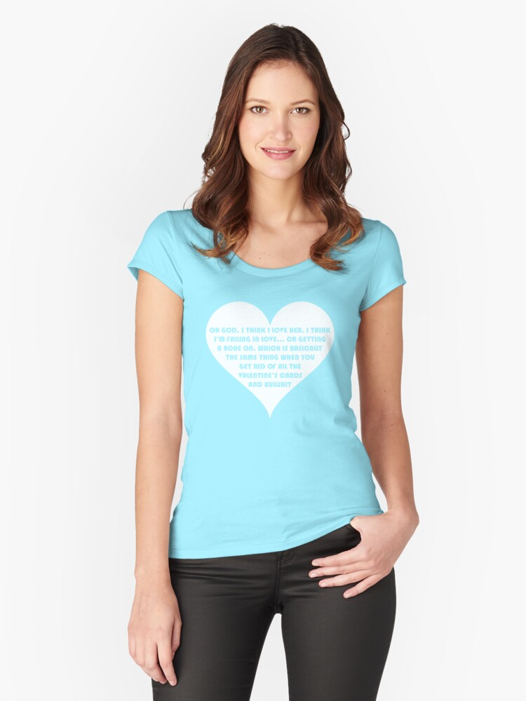 Peep Show Love Or A Bone On Women S Fitted Scoop T Shirt By