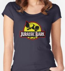 Jurassic Bark (Distressed)  Women's Fitted Scoop T-Shirt