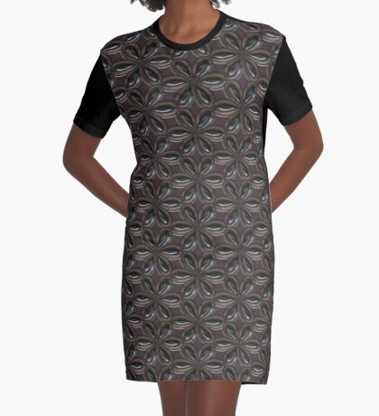 Smooth Metal Flower by Julie Everhart Graphic T-Shirt Dress