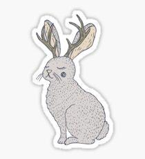 Serene Jackalope Sticker