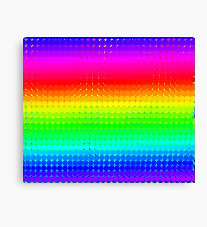 Rainbow Polka dots 008 Canvas Print