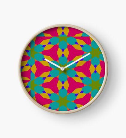 Groovy Flower Design by Julie Everhart Clock